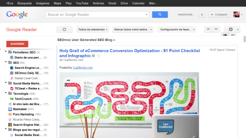 Cómo se usa Google Reader