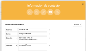 Información Google My Business