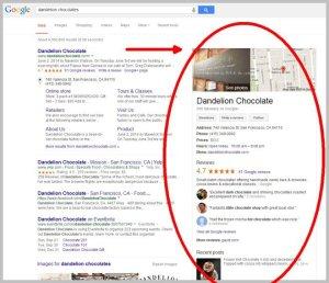 SERP Google My Business