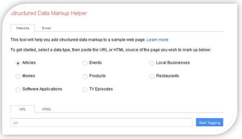 tipos marcado datos google